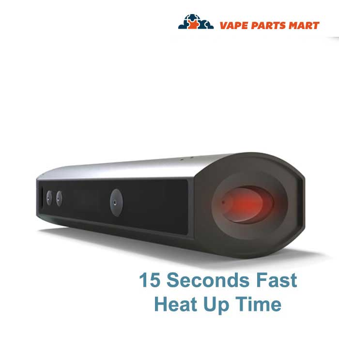 A pic indicating the fast heating time for the XMax Starry Vaporizer.