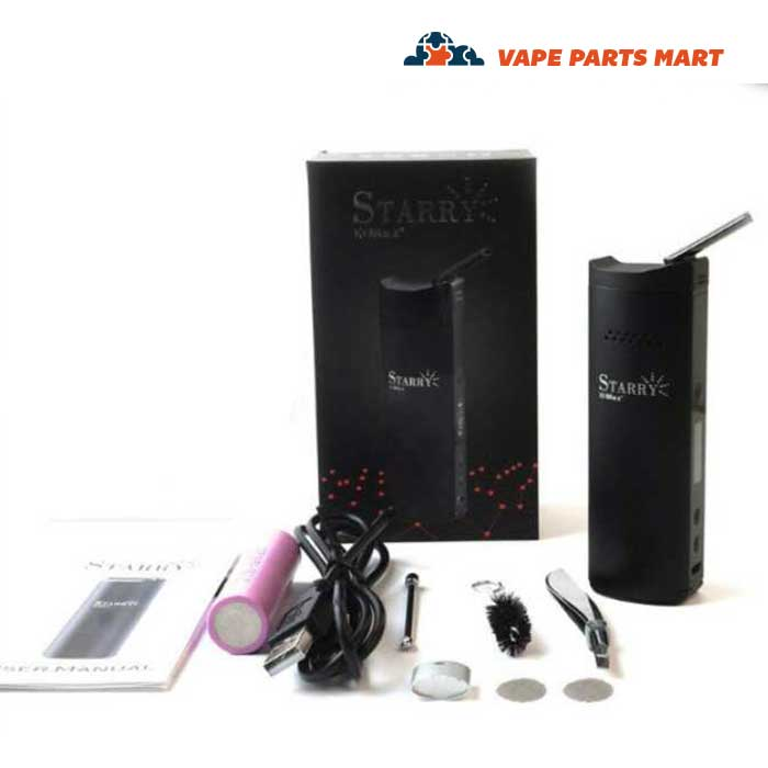 All of the items that are included in the XMax Starry Vape Kit.